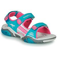 Topánky Deti Športové sandále Kangaroos Sandalshine Modrá / Ružová