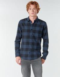 Oblečenie Muži Košele s dlhým rukávom Only & Sons ONSGUDMUND Námornícka modrá / Čierna