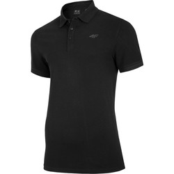 Oblečenie Muži Polokošele s krátkym rukávom 4F TSM008 Čierna