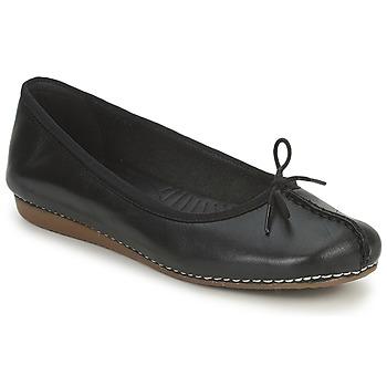 Topánky Ženy Balerínky a babies Clarks FRECKLE ICE Čierna