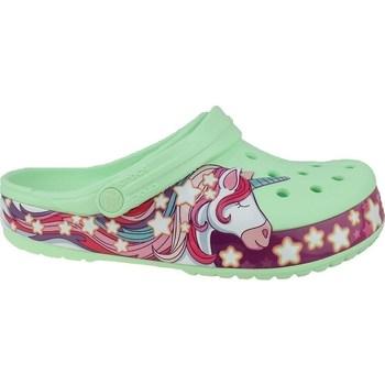Topánky Deti Žabky Crocs Fun Lab Unicorn Band Clog Zelená,Ružová
