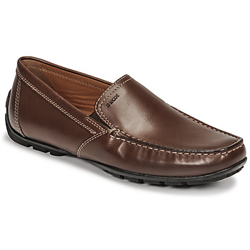 Topánky Muži Mokasíny Geox MONET Hnedá