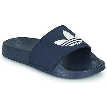 Topánky Deti športové šľapky adidas Originals ADILETTE LITE J Námornícka modrá / Biela
