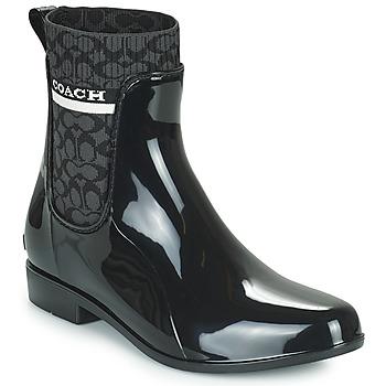 Topánky Ženy Gumaky Coach RIVINGTON RAIN BOOTIE Čierna