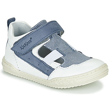 Topánky Chlapci Sandále Kickers JASON Biela / Modrá