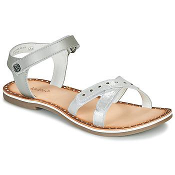 Topánky Dievčatá Sandále Kickers DIDONC Strieborná