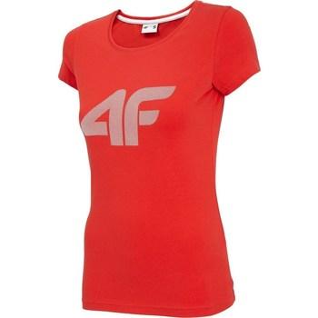 Oblečenie Ženy Tričká s krátkym rukávom 4F TSD005 Červená