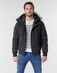 Oblečenie Muži Vyteplené bundy Casual Attitude NIFFO Čierna