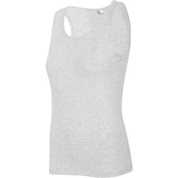Oblečenie Ženy Tielka a tričká bez rukávov 4F TSD003 Sivá
