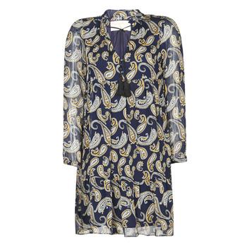 Oblečenie Ženy Krátke šaty Moony Mood LONI Námornícka modrá / Viacfarebná