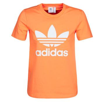 Oblečenie Ženy Mikiny adidas Originals TREFOIL TEE Oranžová