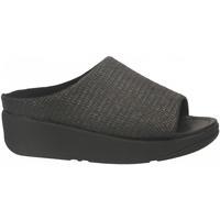 Topánky Ženy Sandále FitFlop IMOGEN BASKET WAVE SLIDE black