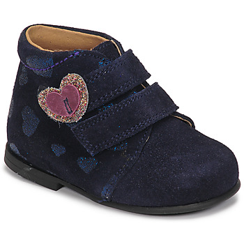 Topánky Dievčatá Polokozačky Citrouille et Compagnie NONUP Námornícka modrá