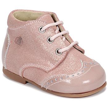 Topánky Dievčatá Polokozačky Citrouille et Compagnie NONUP Ružová