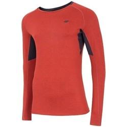 Oblečenie Muži Tričká s dlhým rukávom 4F TSMLF002 Oranžová