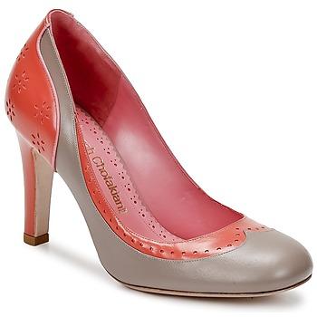 Topánky Ženy Lodičky Sarah Chofakian LAUTREC Jemná šedá bahnová / Oranžová lososová