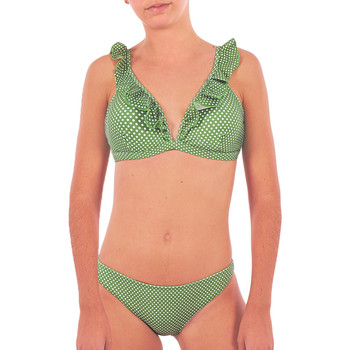 Oblečenie Ženy Plavky dvojdielne Back Bloom BB210 VERT Zelená