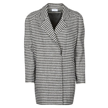 Oblečenie Ženy Kabáty Betty London NIVER Čierna / Biela