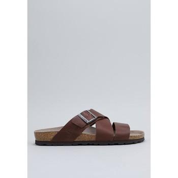 Topánky Muži Šľapky Senses & Shoes  Hnedá