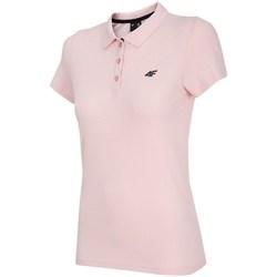 Oblečenie Ženy Polokošele s krátkym rukávom 4F TSD007 Ružová