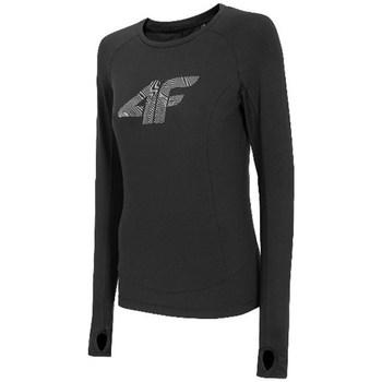 Oblečenie Ženy Tričká s dlhým rukávom 4F TSDLF001 Čierna