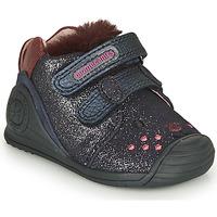 Topánky Dievčatá Nízke tenisky Biomecanics BOTIN ELASTICO Námornícka modrá
