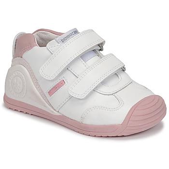 Topánky Dievčatá Nízke tenisky Biomecanics BIOGATEO SPORT Biela / Ružová
