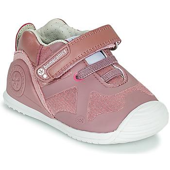 Topánky Dievčatá Nízke tenisky Biomecanics ZAPATO ELASTICO Ružová