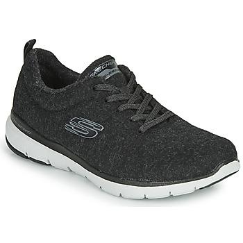 Topánky Ženy Fitness Skechers FLEX APPEAL 3.0 PLUSH JOY Čierna