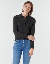 Oblečenie Ženy Polokošele s dlhým rukávom Lacoste PF5464 Čierna