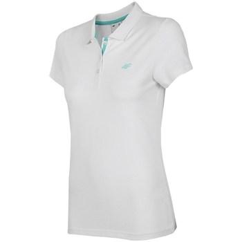 Oblečenie Ženy Polokošele s krátkym rukávom 4F TSD007 Biela
