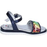 Topánky Dievčatá Sandále Joli sandali pelle sintetica paillettes Blu