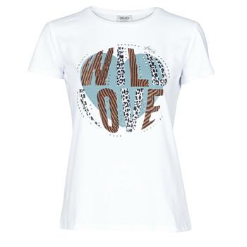 Oblečenie Ženy Tričká s krátkym rukávom Liu Jo WF0098-J5003 Biela