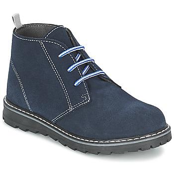 Topánky Chlapci Polokozačky Citrouille et Compagnie LEQUIN Modrá