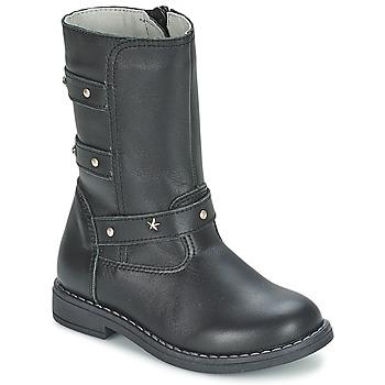 Topánky Dievčatá Čižmy do mesta Citrouille et Compagnie ELZA Čierna