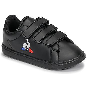Topánky Deti Nízke tenisky Le Coq Sportif COURTSET INF Čierna