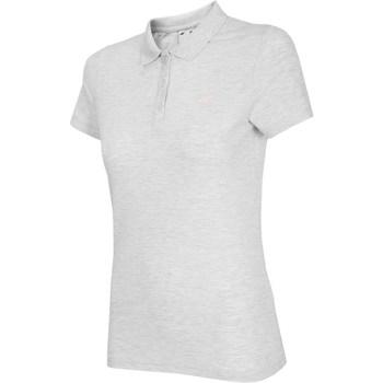 Oblečenie Ženy Tričká s krátkym rukávom 4F NOSH4 TSD007 Biały Melanż Biela, Sivá