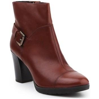 Topánky Ženy Čižmičky Geox D Raphal Mid A Hnedá