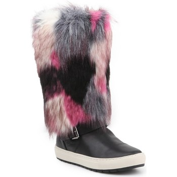 Topánky Ženy Snehule  Geox D Breeda F Čierna,Sivá,Ružová