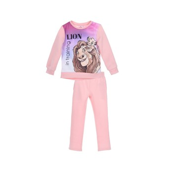 Oblečenie Dievčatá Súpravy vrchného oblečenia TEAM HEROES JOGGING  LION KING Ružová