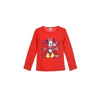 Oblečenie Dievčatá Tričká s dlhým rukávom TEAM HEROES MINNIE Červená