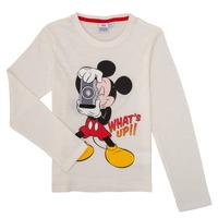 Oblečenie Chlapci Tričká s dlhým rukávom TEAM HEROES  MICKEY Biela