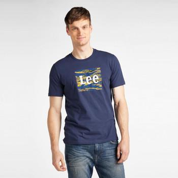 Oblečenie Muži Tričká s krátkym rukávom Lee T-shirt  Camo Package Dark Navy bleu marine/jaune/blanc