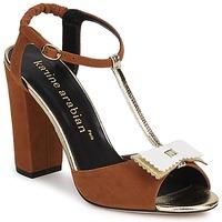 Topánky Ženy Sandále Karine Arabian ABBAZIA Piesková / Biela / Zlatá