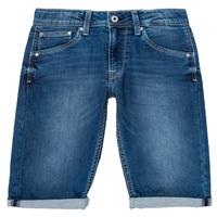 Oblečenie Chlapci Šortky a bermudy Pepe jeans CASHED SHORT Modrá