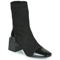 Topánky Ženy Čižmičky Vanessa Wu BOTTINES CHAUSSETTES À TALON BLOC Čierna