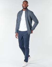 Oblečenie Muži Nohavice Chinos a Carrot Selected SLHNEW PARIS Námornícka modrá