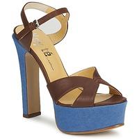 Topánky Ženy Sandále Keyté CUBA-LUX-MARRONE-FLY-9 Hnedá