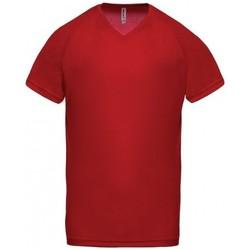 Oblečenie Muži Tričká s krátkym rukávom Proact T-Shirt Col V  Sport rouge