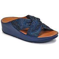 Topánky Ženy Sandále FitFlop TWISS CRYSTAL SLIDE Modrá